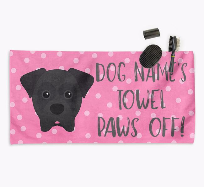'Paws Off' Dog Towel for your Boxer