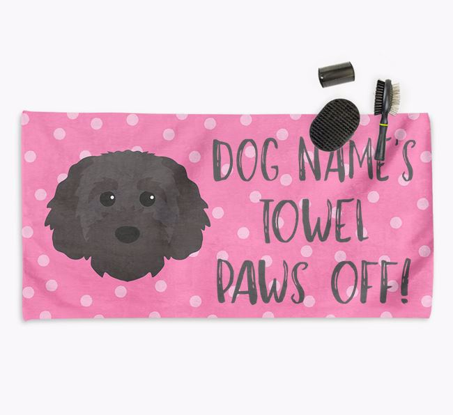 'Paws Off' Dog Towel for your Cavapoochon