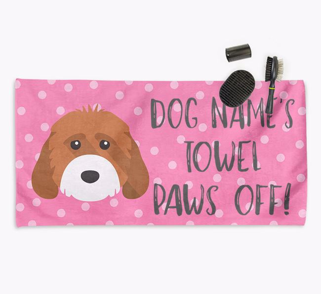 'Paws Off' Dog Towel for your Cockapoo