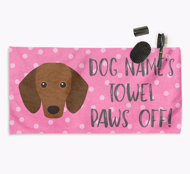 'Paws Off' Dog Towel for your Dachshund