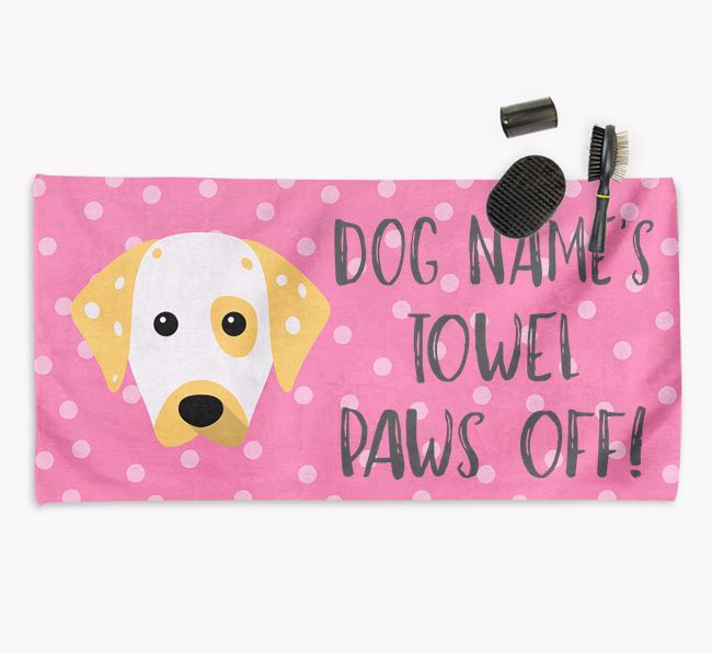 'Paws Off' Dog Towel for your Dalmatian