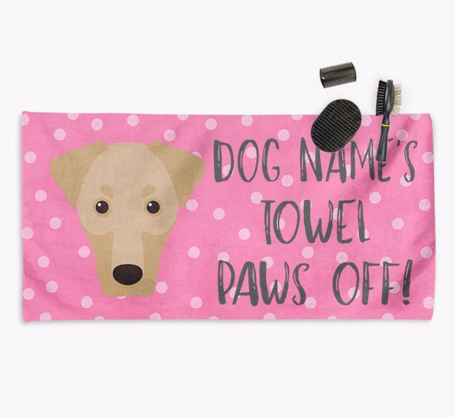 'Paws Off' Dog Towel for your Dobermann