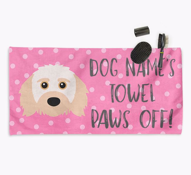 'Paws Off' Dog Towel for your Doodle