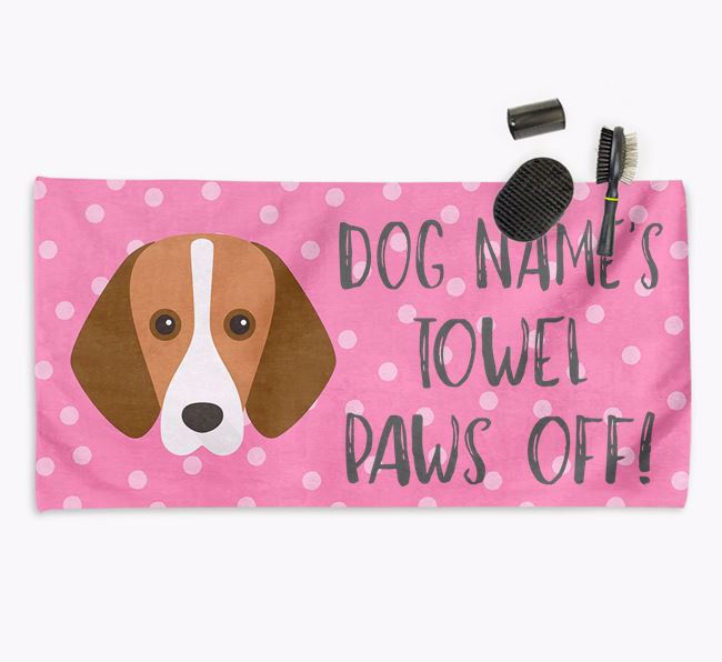 'Paws Off' Dog Towel for your Foxhound