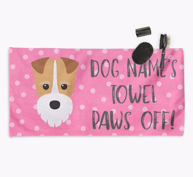 'Paws Off' Dog Towel for your Fox Terrier