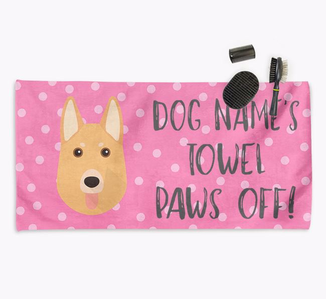 'Paws Off' Dog Towel for your German Shepherd