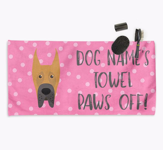 'Paws Off' Dog Towel for your Great Dane