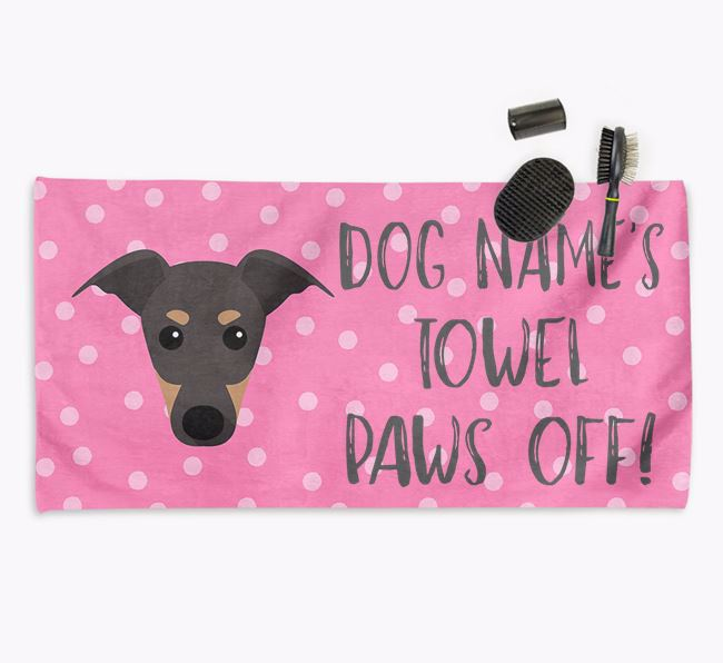 'Paws Off' Dog Towel for your Greyhound