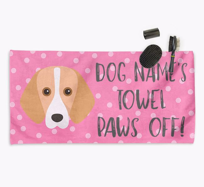 'Paws Off' Dog Towel for your Harrier