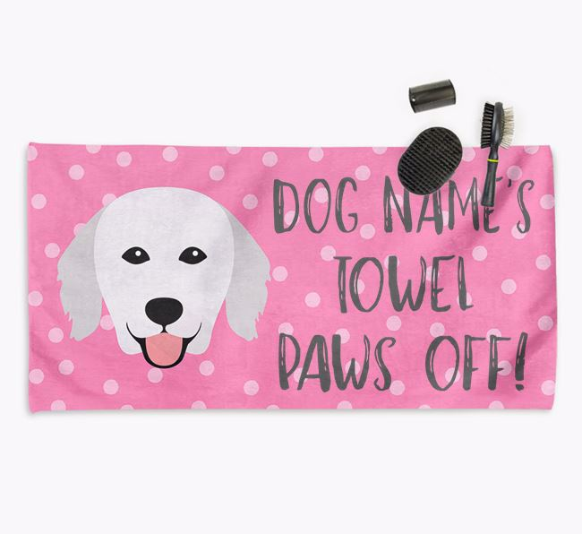 'Paws Off' Dog Towel for your Kuvasz