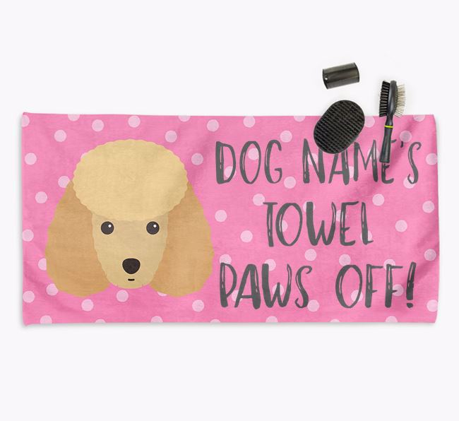 'Paws Off' Dog Towel for your Miniature Poodle