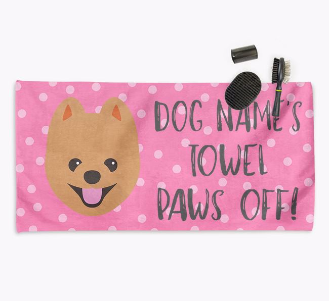 'Paws Off' Dog Towel for your Pomapoo