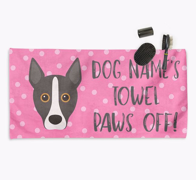 'Paws Off' Dog Towel for your Podengo