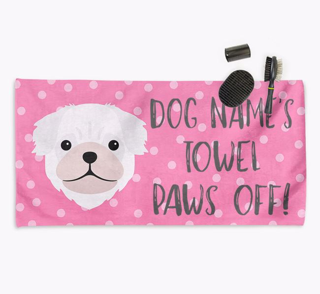 'Paws Off' Dog Towel for your Pug