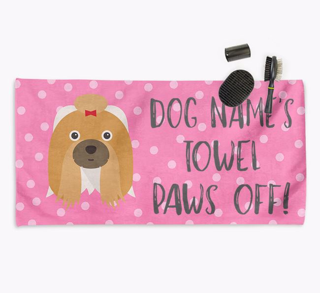 'Paws Off' Dog Towel for your Shih Tzu