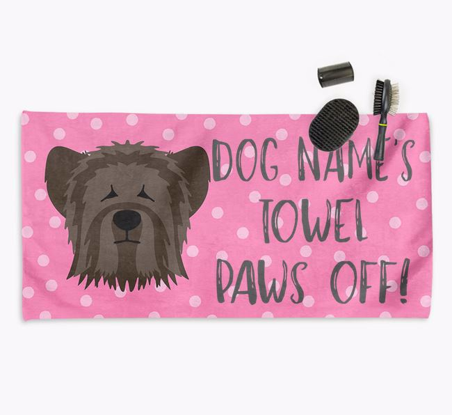 'Paws Off' Dog Towel for your Skye Terrier
