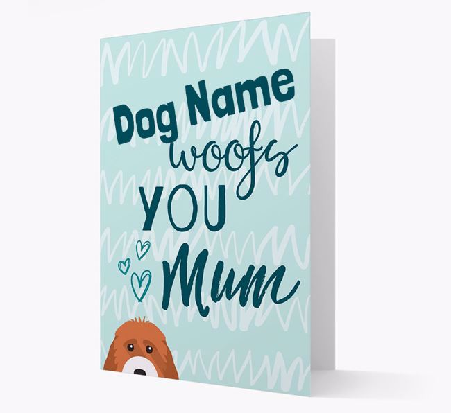 Personalised Cockapoo 'woofs you Mum' Card
