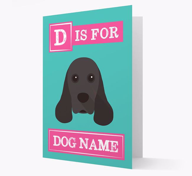 'Letter and Name' Card for your American Cocker Spaniel