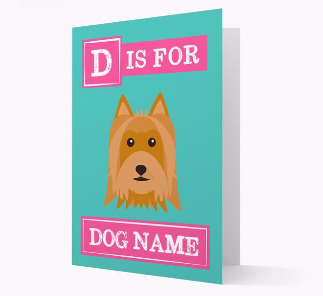 'Letter and Name' Card for your Australian Silky Terrier