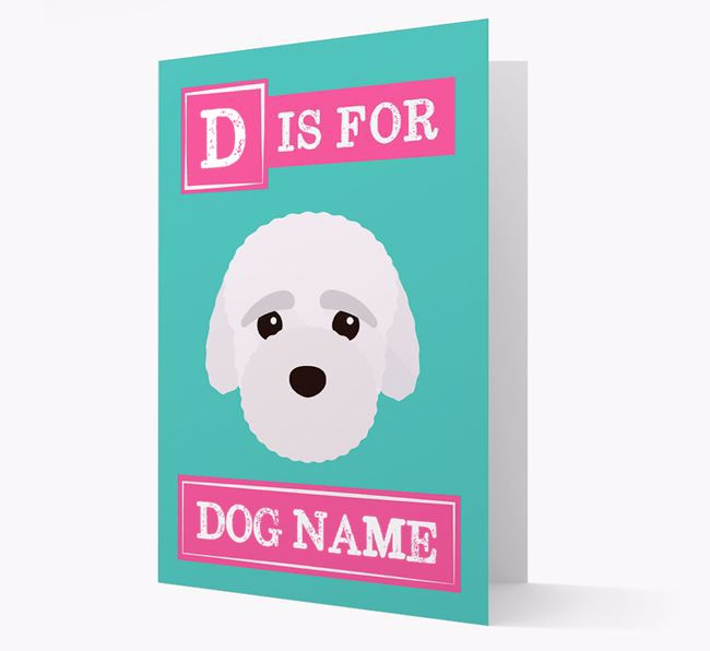 'Letter and Name' Card for your Bich-poo