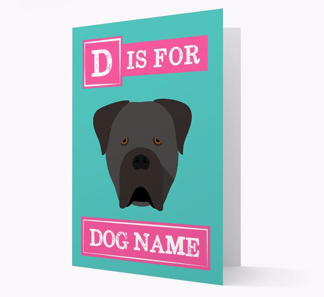 'Letter and Name' Card for your Cane Corso Italiano