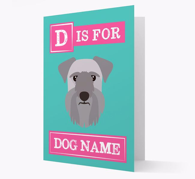 'Letter and Name' Card for your Cesky Terrier