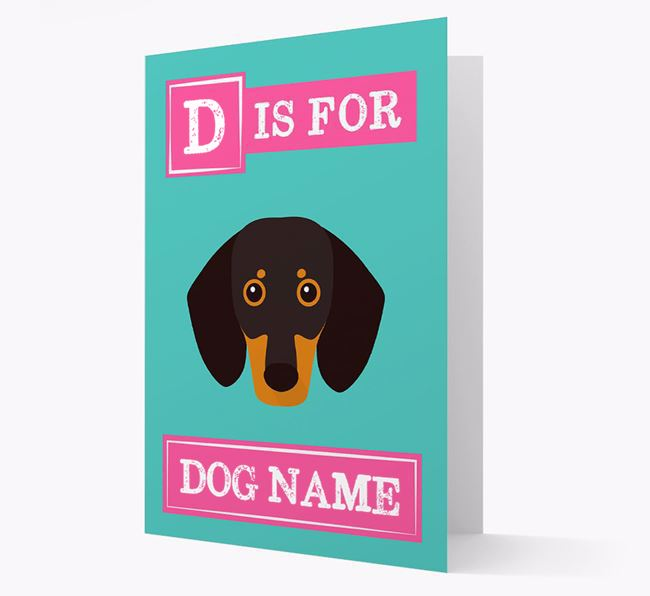 'Letter and Name' Card for your Dog