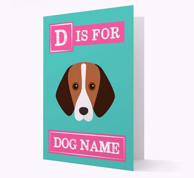 'Letter and Name' Card for your Foxhound