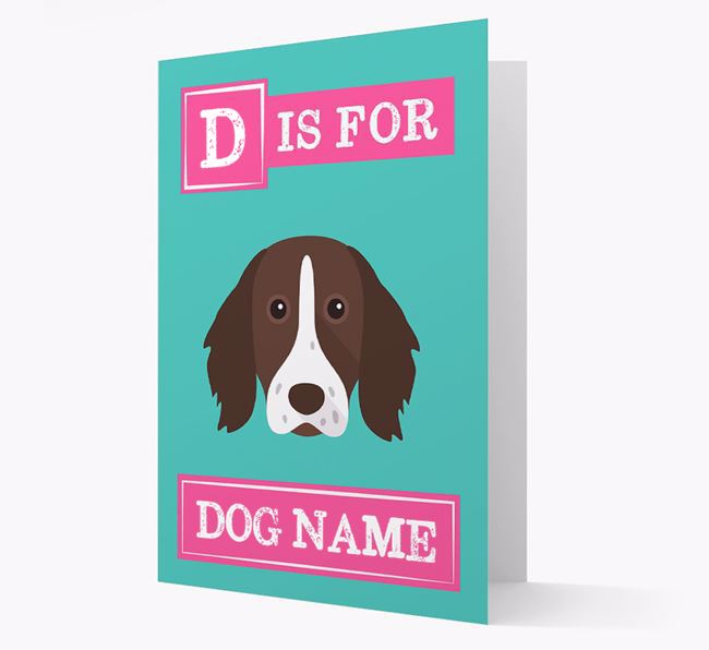 'Letter and Name' Card for your German Longhaired Pointer