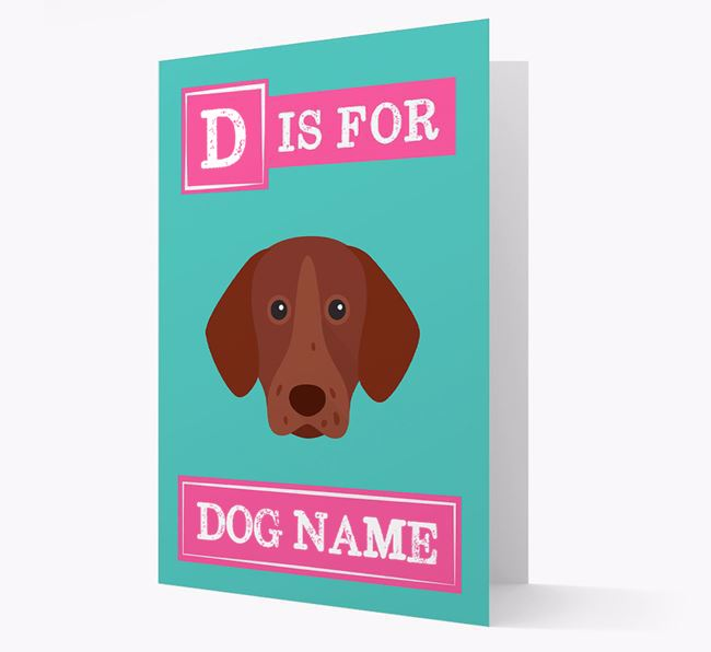 'Letter and Name' Card for your German Shorthaired Pointer