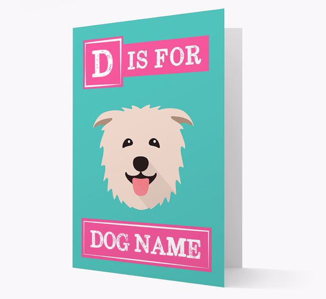 'Letter and Name' Card for your Glen Of Imaal Terrier