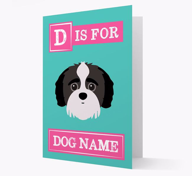 'Letter and Name' Card for your Jack-A-Poo