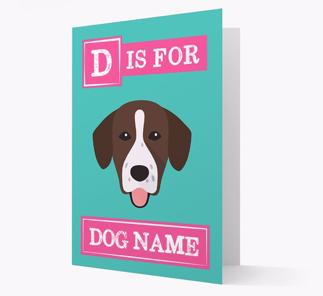 'Letter and Name' Card for your Springador