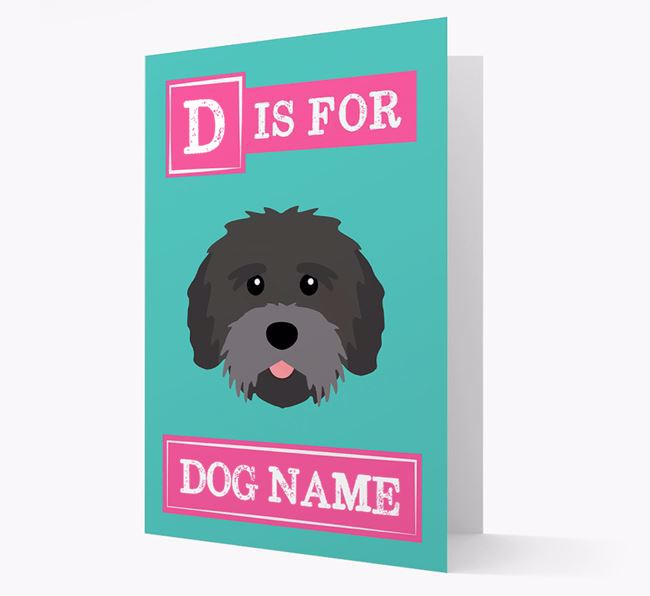'Letter and Name' Card for your Tibetan Terrier