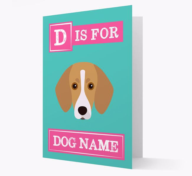 'Letter and Name' Card for your Trailhound