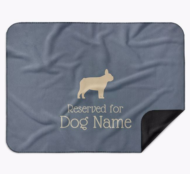 Personalised Luxury Dog Blanket 'Reserved for Your Dog'