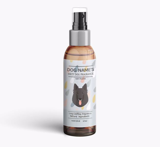 Personalised 'Dirty Dog' Fragrance for your Belgian Groenendael