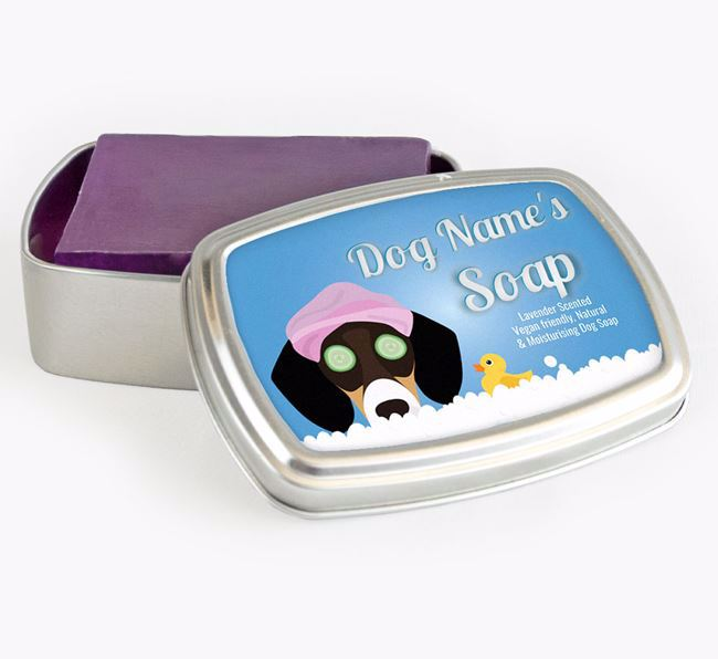 Personalised 'Bath Time' Soap Tin for your Bassador