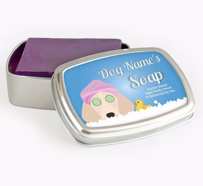 Personalised 'Bath Time' Soap Tin for your Beagle