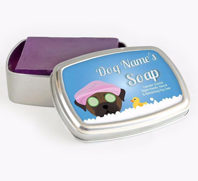 Personalised 'Bath Time' Soap Tin for your Chug