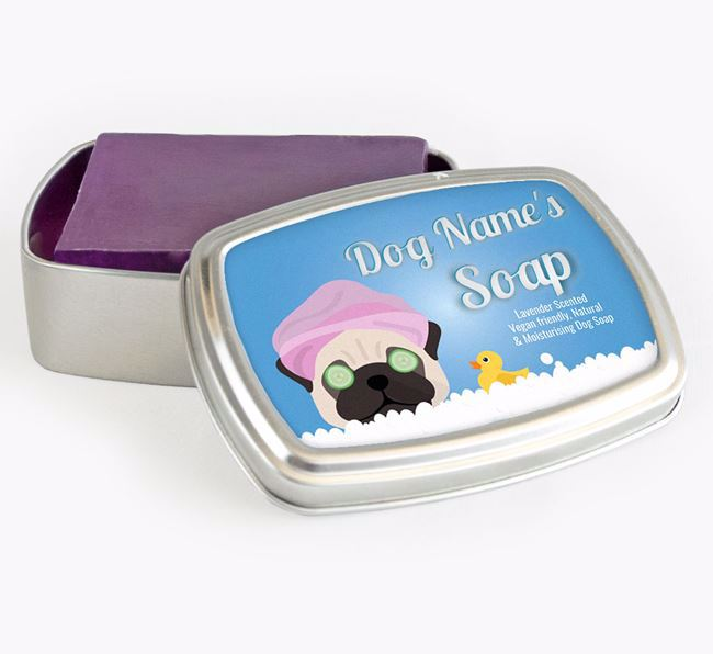 Personalised 'Bath Time' Soap Tin for your Dog