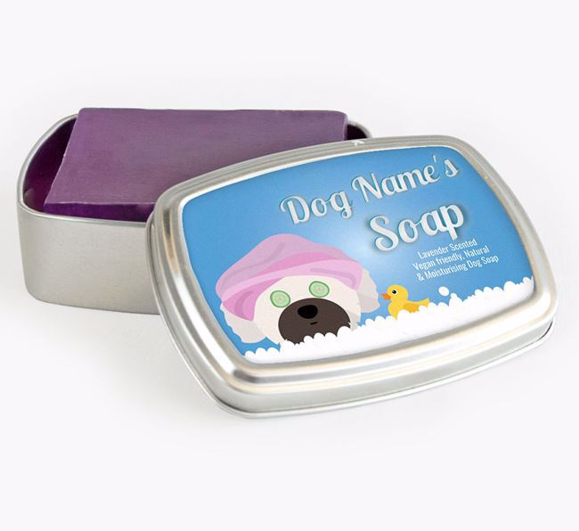 Personalised 'Bath Time' Soap Tin for your Shih Tzu