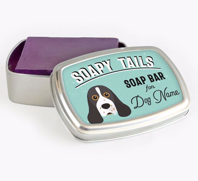 Personalised 'Soapy Tails' Soap Tin for your American Cocker Spaniel