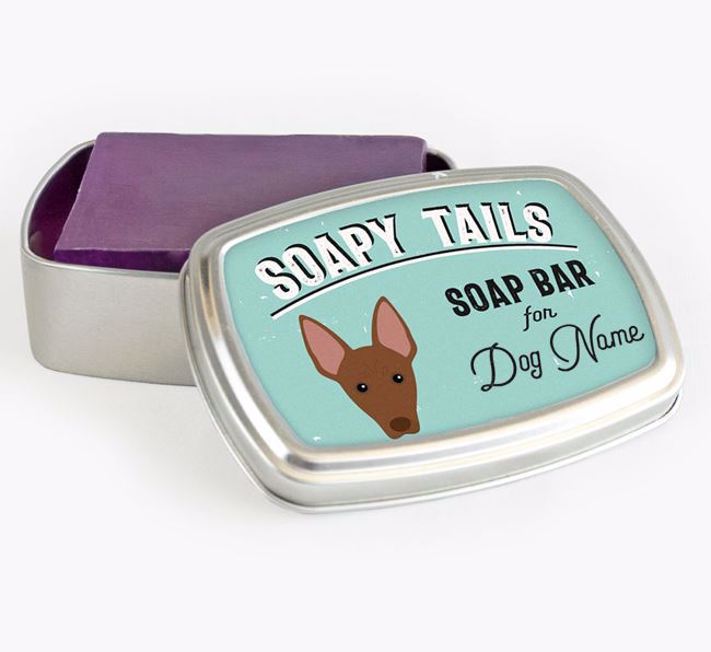Personalised 'Soapy Tails' Soap Tin for your American Hairless Terrier