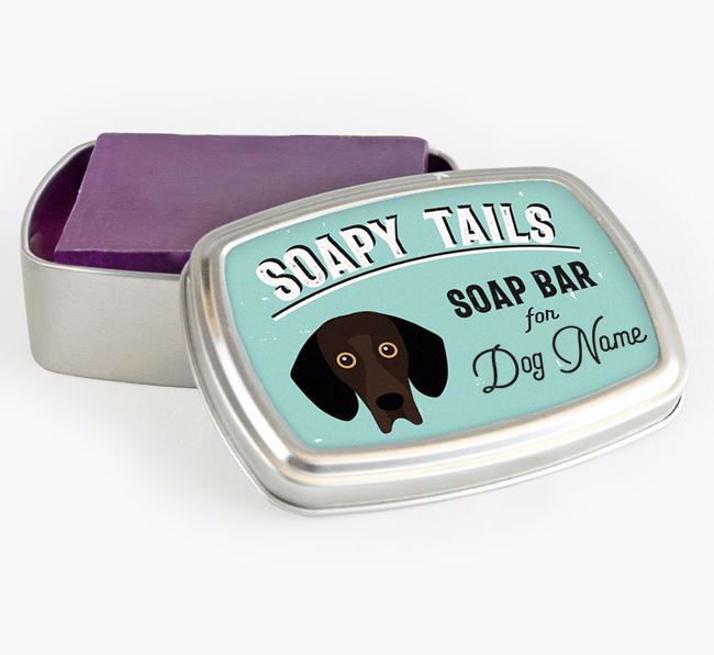 Personalised 'Soapy Tails' Soap Tin for your Bassador