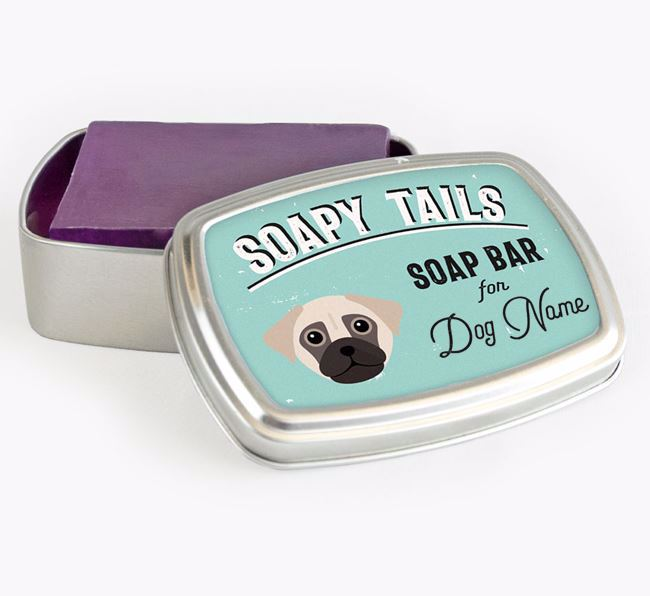 Personalised 'Soapy Tails' Soap Tin for your Chug