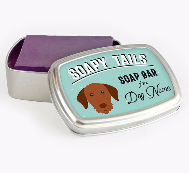 Personalised 'Soapy Tails' Soap Tin for your Hungarian Vizsla