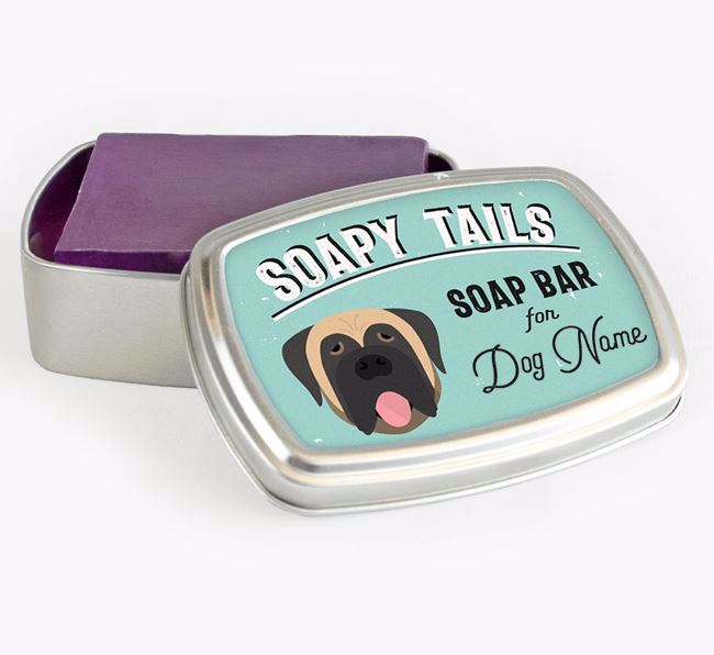 Personalised 'Soapy Tails' Soap Tin for your Dog