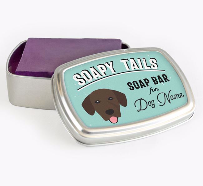 Personalised 'Soapy Tails' Soap Tin for your Springador