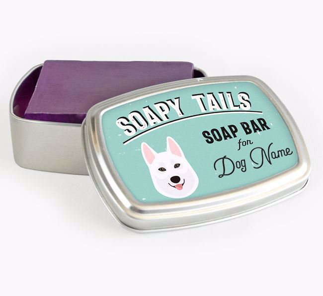 Personalised 'Soapy Tails' Soap Tin for your Tamaskan
